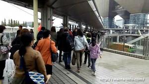 国際展示場駅から東京ビッグサイトへ行く途中